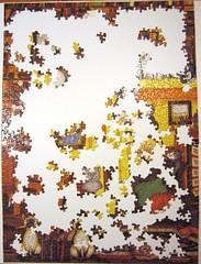Quiet Please (Linda Jane Smith) (Leonisha) Tags: puzzle jigsawpuzzle unfinished