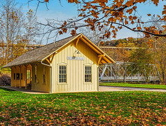 the_long_goodbye (gerhil) Tags: landscapephotography scenic building outdoor color railroad station autumn november2016 macphunintensifyck architecture 1001nights 1001nightsmagiccity