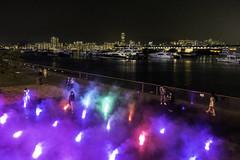 Colors in the dark (edward.cheung) Tags: kwuntong kaitakcruiseterminal kowloon hongkong nightstreet park afterwork rx100iii sony colorful rainbow sea victoriaharbor