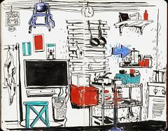 Ikea-Chaos-WG-Example :D (connykunze) Tags: ikea indoor flat furniture accessoirs kitchen furnishings location drawing fineliner ink pen sketchbook moleskine berlin creative interior sketching urban