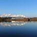 Santa special crossing Butterley reservoir