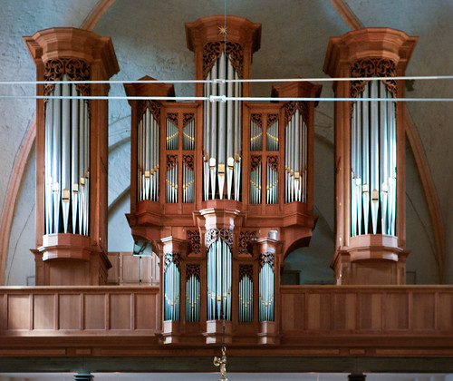 The Organ of  Michaeliskirche, Eutin, Schleswig-Holstein, Germany