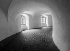 round tower (vd1966) Tags: copenhagen round tower runderturm black white bricks windows walls ceiling old light shadow elitegalleryaoi bestcapturesaoi