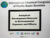 Pacifichem 2015 Conference Placard (Victor Wong (sfe-co2)) Tags: pacifichem 2015 conference placard analytical development relevant environmental exposure effects waikiki hawaii honolulu usa
