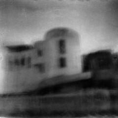 Das Gebäude (Davide De Domenico) Tags: diana f pinhole ilford hp5 rodinal 125 multi exposure davide de domenico blur
