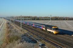 43185. Denchworth. 30-11-2016 (*Steve King*) Tags: denchworthfrost 43185 class 43 great western intercity livery swallow train