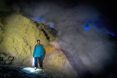 The Blue Flames (Trent's Pics) Tags: sulfur sulfurminer crater eastjava indonesia java lava volcano ijen mountijen blueflame bluesmoke