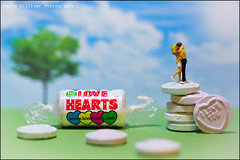 Love Hearts (Pikebubbles) Tags: davidgilliver davidgilliverphotography myartbroker thelittlepeople littlepeople little macro miniature miniatures miniatureart toyart toy toys figurine figurines fineartphotography canon smallworld itsasmallworld creative creativephotography