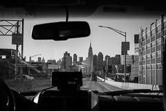 Entering Manhattan (Pat Kelleher) Tags: nyc manahttan black bw blackandwhite fuji fujifilm fujixt1 grain new york