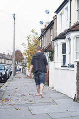 Young Men Dress Casual At The Weekend (Scott A Hamilton) Tags: male portrait street barefoot barefeet