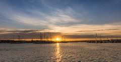 Ahuriri marina (lizcaldwell72) Tags: sunburst hawkesbay newzealand sunset napier water sky clouds portahuriri light