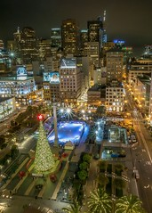 Union Square at night (ShutterBugWithGlasses) Tags: unionsquare bayarea sanfrancisco