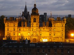 The Edinburgh Hogwarts (byronv2) Tags: hogwarts illuminated scotland school heriotsschool scotsbaronial architecture building history dusk night edinburgh edimbourg oldtown esplanade nuit nacht edinburghbynight