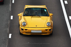 Porsche, 964 Turbo 3.6, Causeway Bay, Hong Kong (Daryl Chapman Photography) Tags: de869 porsche german 964 yellow cwb causewaybay 1d mkiv pan panning car cars auto autos automobile canon eos is ii 70200l f28 road engine power nice wheels rims hongkong china sar drive drivers driving fast grip photoshop cs6 windows darylchapman automotive photography hk hkg bhp horsepower brakes gas fuel petrol topgear headlights worldcars daryl chapman darylchapmanphotography