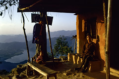 Himalaya Tea House (Hubert Streng) Tags: nepal pokhara sahrangkot tea house lake view morning sunset sarangkot