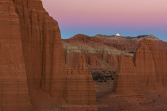 The Rising (Bob Bowman Photography) Tags: utah moon rising supermoon earthshadow landscape capitolreef monoliths nationalparks light usa southwest color nikon nikkor