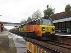 70808 Liskeard (9) (Marky7890) Tags: colasrail class70 70808 6c36 liskeard cornwall train railway