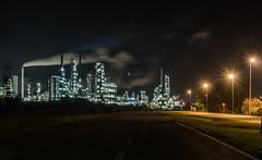 Leunawerke bei Nacht (ho4587@ymail.com) Tags: chemie industrie lzb leuna leunawerke lichter nachtaufnahme raffinerie beleuchtet tamronsp2470mmf28divcusd