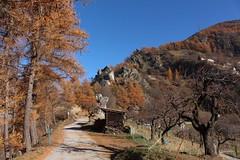 Isrables (bulbocode909) Tags: valais suisse isrables montagnes nature arbres automne mlzes chemins routes forts cabanes