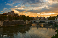Roman evening (Tiziano Photography) Tags: rome tevere bridge sunset sky clouds houses river roma ponte fiume tramonto cielo nuvole nikond750 d750 nikon landscape panorama