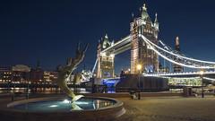 _DSC9152 (slackest2) Tags: london thames river night lights water sky tower bridge butlers wharf st katherines dock