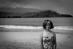 Copy of Kauai b&w50-2 (chiarina2016) Tags: kauai hawaii island beach monotone blackandwhite chiarinaloggia stormyseas waves trails hiking surf hanalei hanaleibeach sea ocean balihai