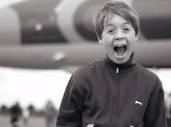 OMG! A Vulcan Bomber..... (jesstink) Tags: excited boy canon7d child face warwickshire jesstink mono suzannesmith vulcanxm655 vulcan wellesbourneairfield airfield