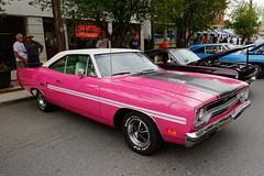 Mopar Madness (fotofish64) Tags: pink newyork 20d car automobile colorful plymouth 1970 chrysler mopar scotia 440 carshow gtx