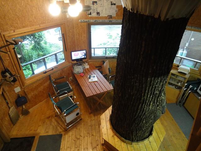ツリーハウスといえども設備は近代的で快適|三部牧場ハルニレのツリーハウス