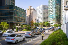 another downtown (gwnam.2008) Tags: road street city blue urban building car skyline office downtown cityscape samsung korea seoul cbd traffice   mapo nx   nx11 gongdeokdong mopogu