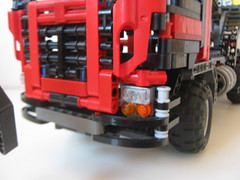 truck wiht mounted log loader (vicent steffens (gerou 100)) Tags: truck log lego technic loader bionicle moc