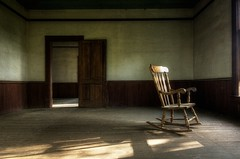 Waiting (shutterclick3x) Tags: abandoned rocker abandonedhouse rockingchair stealingshadows magicunicornverybest frankloose