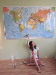 202. Dream about the New Zealand (Betty.Schulzova) Tags: world new travel summer baby holiday self myself paper airplane origami map earth dream zealand sit planet swallow gir project365 sbety bettyschullzova