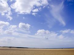 Norfolk sky (Truly Julie) Tags: summer sky cloud holiday beach skies norfolk august wells deserted wellsnextthesea