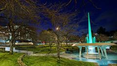 20130826-38-Hobart railway roundabout fountain green.jpg (Roger T Wong) Tags: fountain night nocturnal australia tasmania cbd hobart canonef1740mmf4lusm canon1740f4l canoneos6d railwayroundaboutfountain