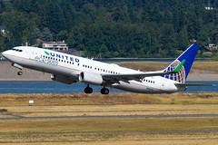N76516 (sabian404) Tags: cn portland airport skies united international pdx boeing airlines eco 737 ln 737800 kpdx b738 2718 737824 37096 n76516 ecoskies