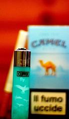 FLY HIGH. (mariofocaccio) Tags: wood blue bird photography fly photo high foto blu cigarette smoke cigar it camel lighter fotografia legno domenica cammello sigaretta volare accendino