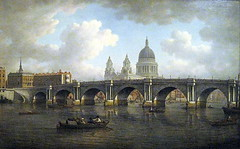 Blackfriars Bridge and St. Paul's Cathedral, by William Marlow (1788) (Snapshooter46) Tags: london artist oilpainting guildhallartgallery williammarlow blackfriarsbridgeandstpaulscathedral
