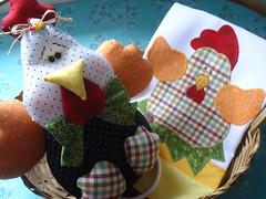 PANO DE PRATO E PORTA PANO GALINHA COUNTRY! (Lucimar Lima) Tags: de galinha pano country e porta patchwork prato