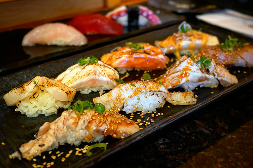 Japanese Food - Aburi Nigiri Sushi Set