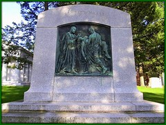 Ernest W. Haass Memorial: Woodlawn Cemetery--Detroit MI (pinehurst19475) Tags: city sculpture bronze memorial detroit granite biblical sculptor woodlawn basrelief newtestament woodlawncemetery graveart charleskeck bronzeandgranite ernesthaassmemorial ernestwhaassmemorial
