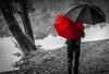 Two for One (Deborah Valentin) Tags: scotland umbrellas raining redumbrella mugdockcastle blackumbrella nicolasvalentin