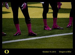 Pretty in Pink (tenfeet_tall) Tags: oregon nikon ducks eugene ncaa collegefootball autzen wazzu d90