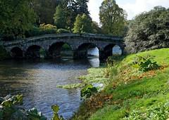Stourhead Bridge (john atte kiln) Tags: uk bridge trees england lake water grass unitedkingdom britain bank arches stourhead ripples wiltshire palladianbridge grassybank