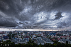 The Nephologist (draken413o) Tags: travel storm rain weather clouds scary singapore asia cityscapes residential hougang neighbourhood furious nephology destinations