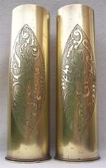 French 75 mm shellcases, polished (fumsup) Tags: world art one war wwi shell trench mm ww1 75 artisanat poilu 19141918 reservistika grabenkunst