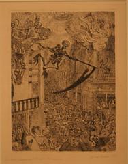James Ensor (1860-1949) La mort poursuivant la troupeau es humains/Triumph des Todes/Triumph of Death, 1896, Radierung (Sergei P. Zubkov) Tags: berlin art museum etching kunst april 2011 radierung berggruen