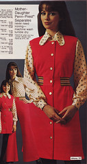 Pennys 73 fw red jumper (jsbuttons) Tags: red clothing dress buttons womens blouse 70s jumper catalog seventies 1973 73 pennys jcpenny vintageclothing vintagefashion buttonfront