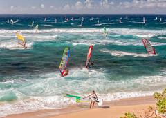 Windsurfing Hookipa (mojo2u) Tags: ocean beach hawaii maui windsurfing hookipa nikon2470mm nikond700
