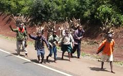 Firewood collectors (chericbaker) Tags: boys kenya safari firewood